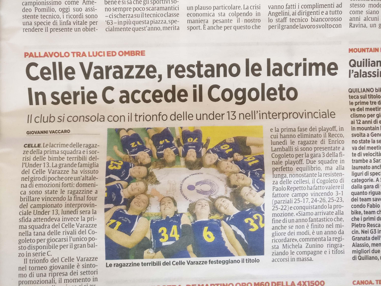 Finale stagione Secolo XIX